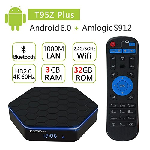 SUNVELL T95Z PLUS Amlogic S912 3GB RAM 32GB ROM 5 0G WIFI 1000M LAN  Bluetooth 4 0 Android 7 1 TV Box